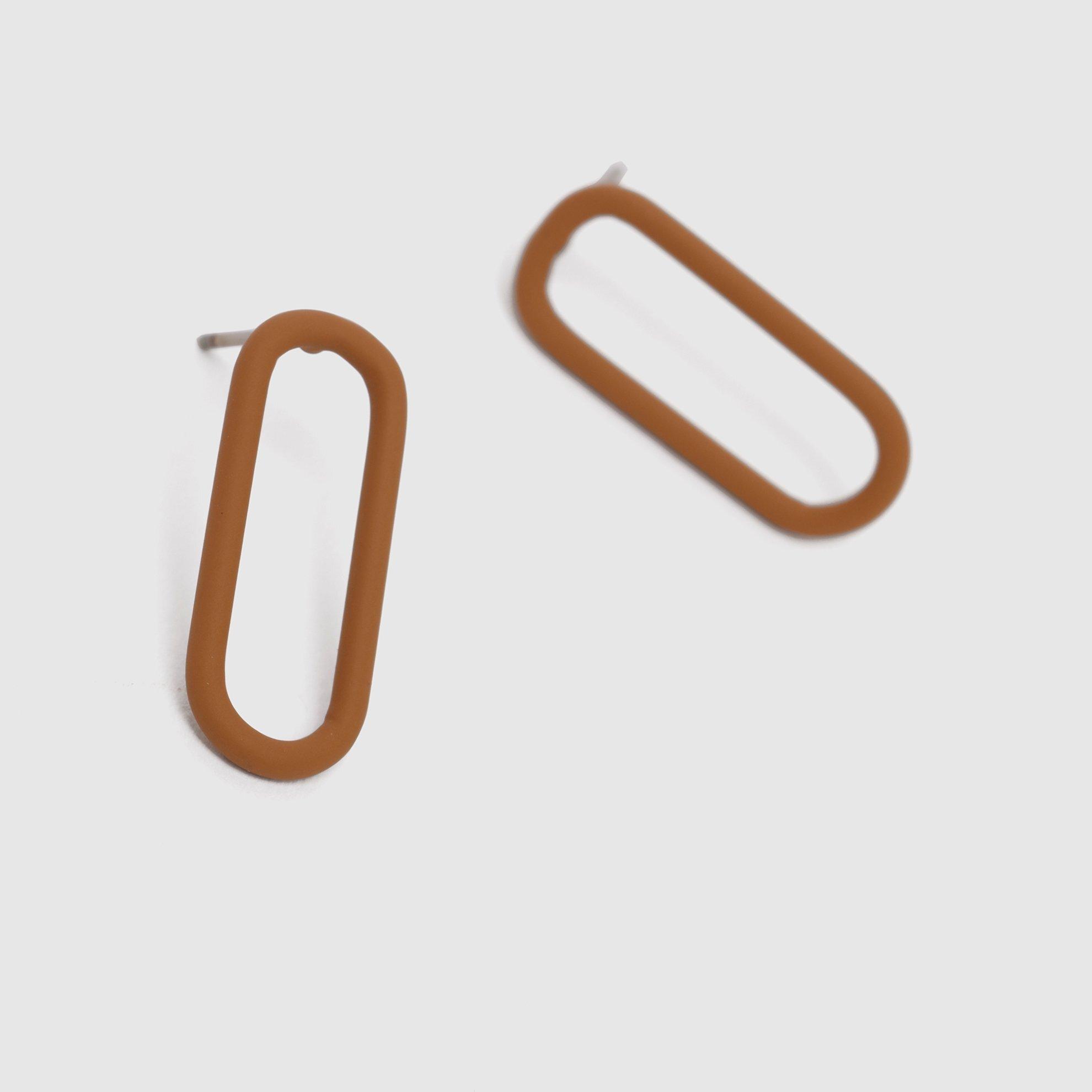 Oval Minik Küpe