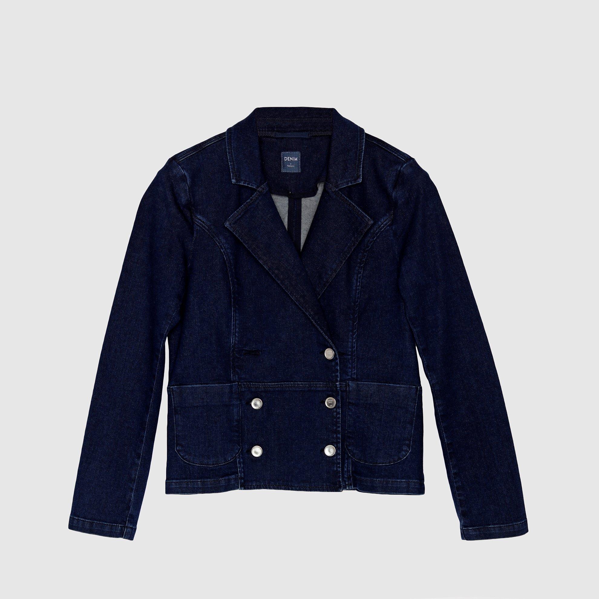 Jeansjacke in indigo-Blau