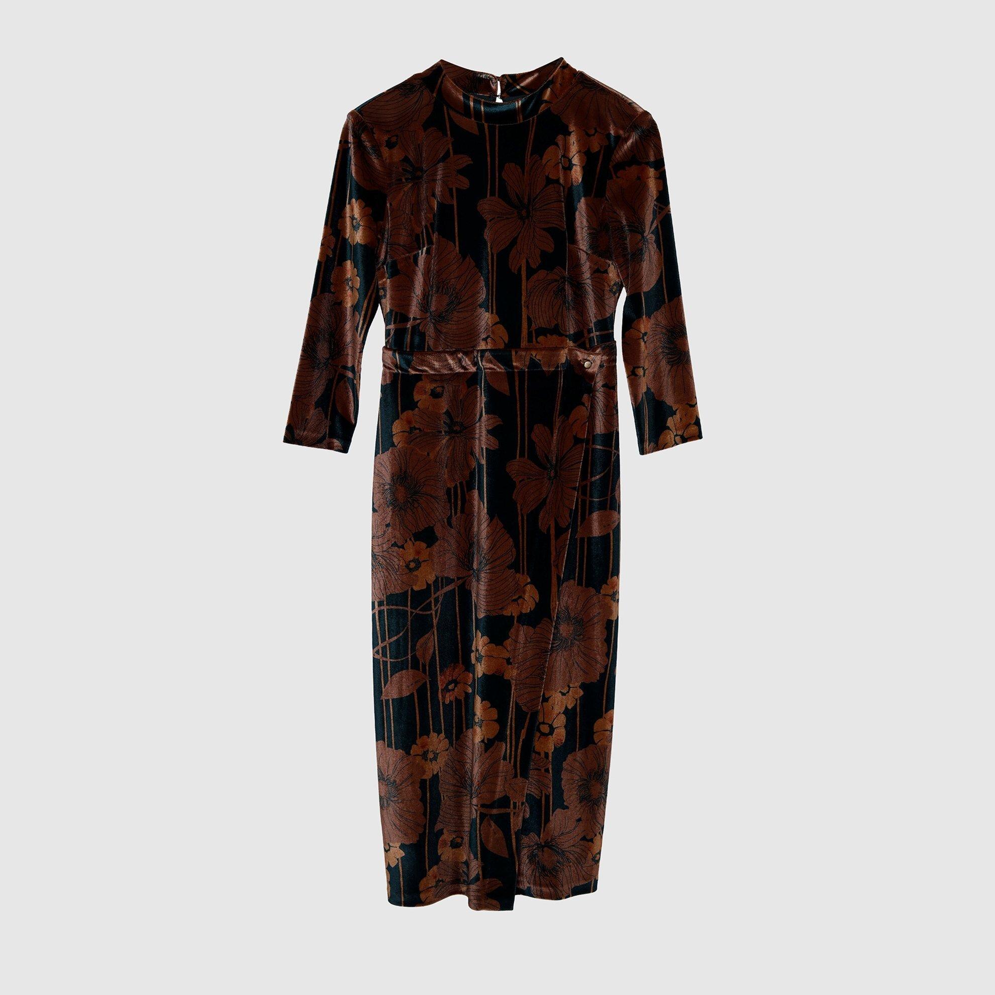 resm Sırtı Açık Elbise