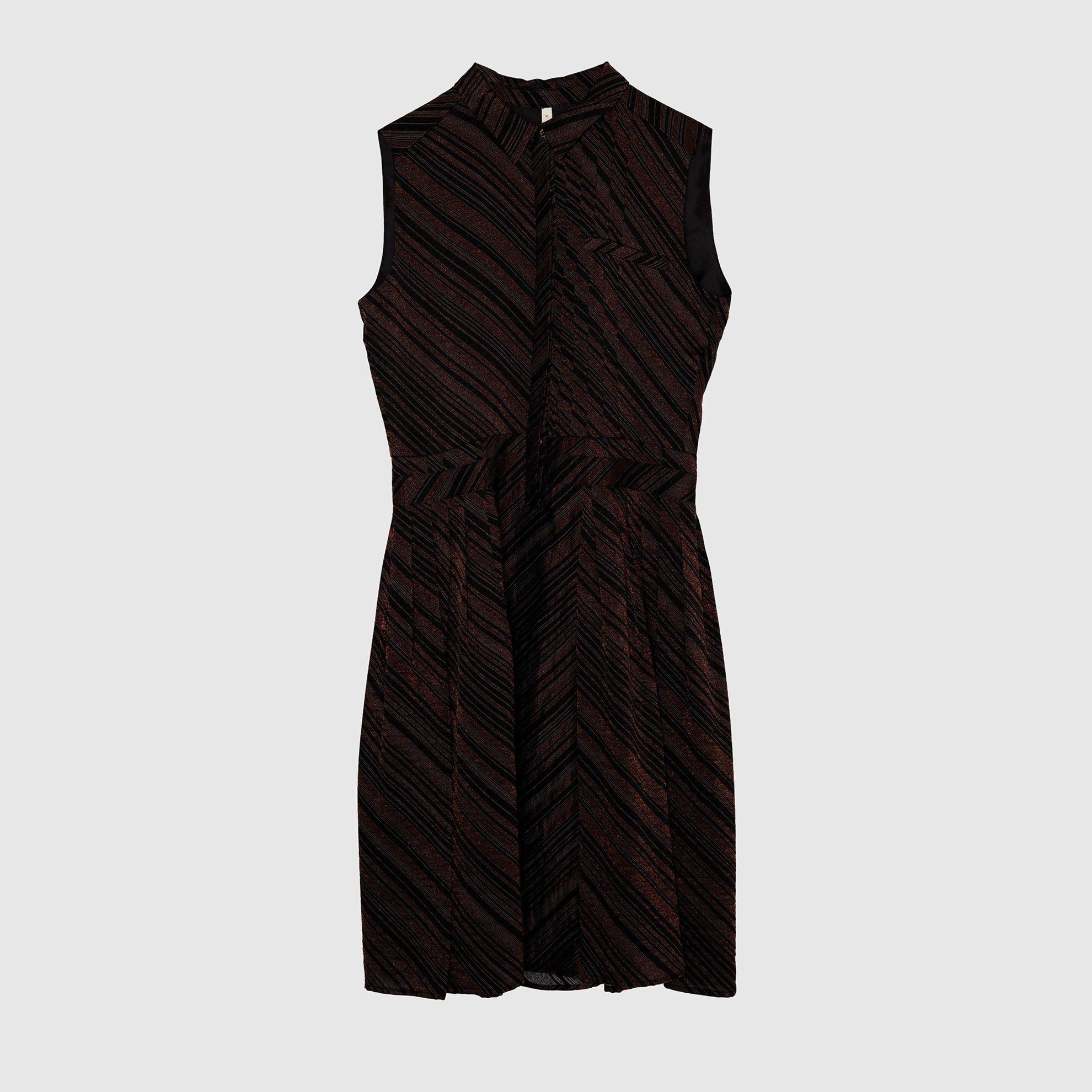 resm Kırma Detaylı Elbise