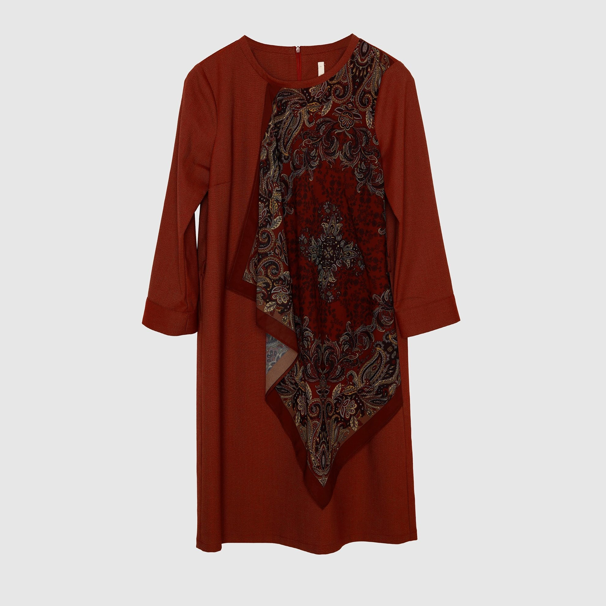 Shawl Detail Dress