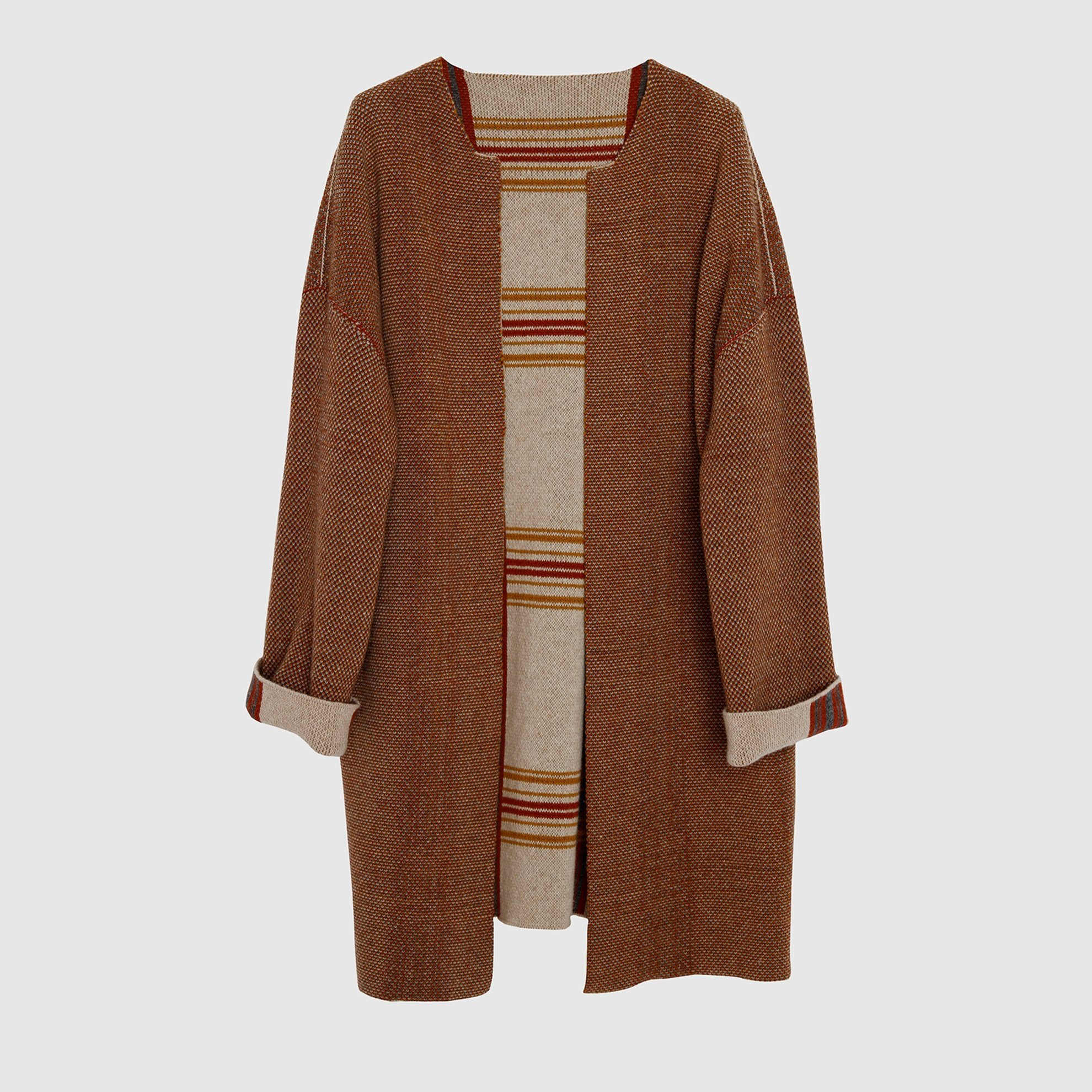 Check Patterned Tricot Coat