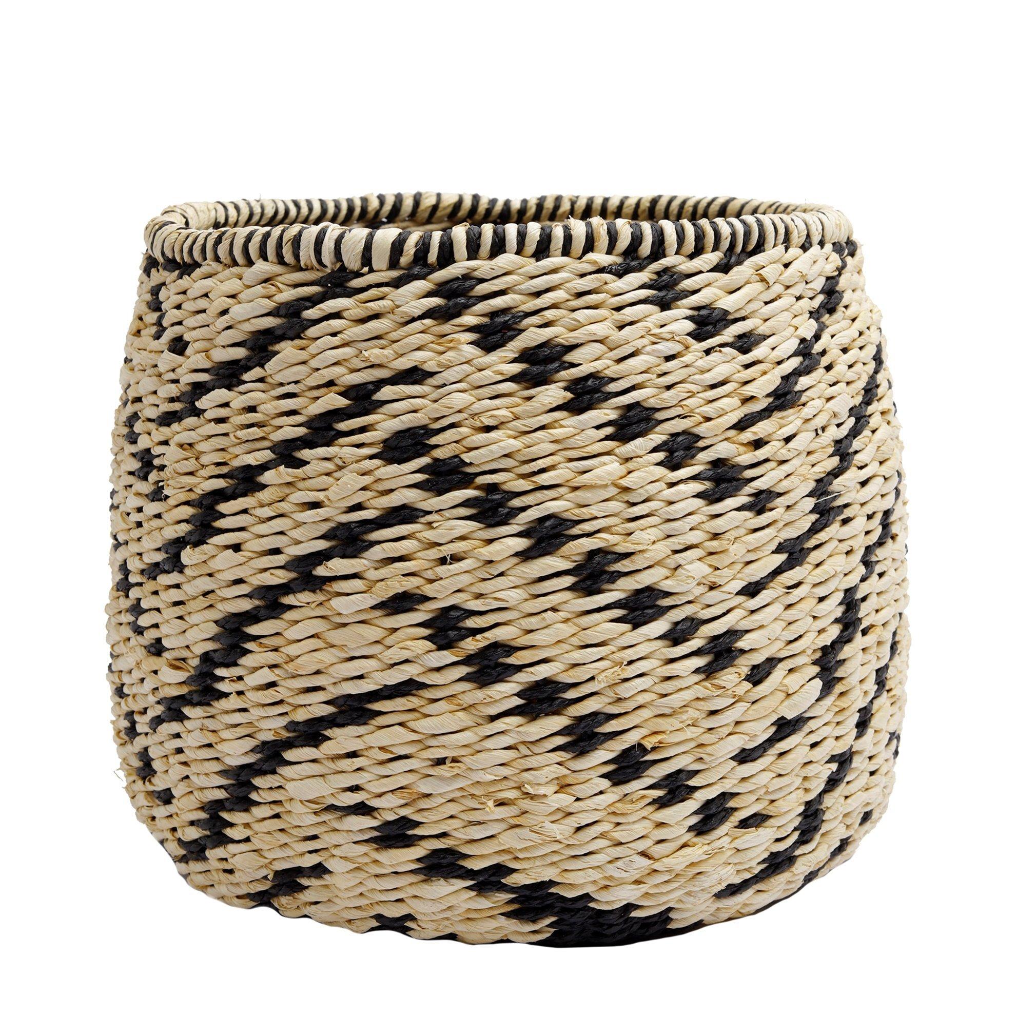 Straw Basket ( 31 X 31 X 25 Cm )