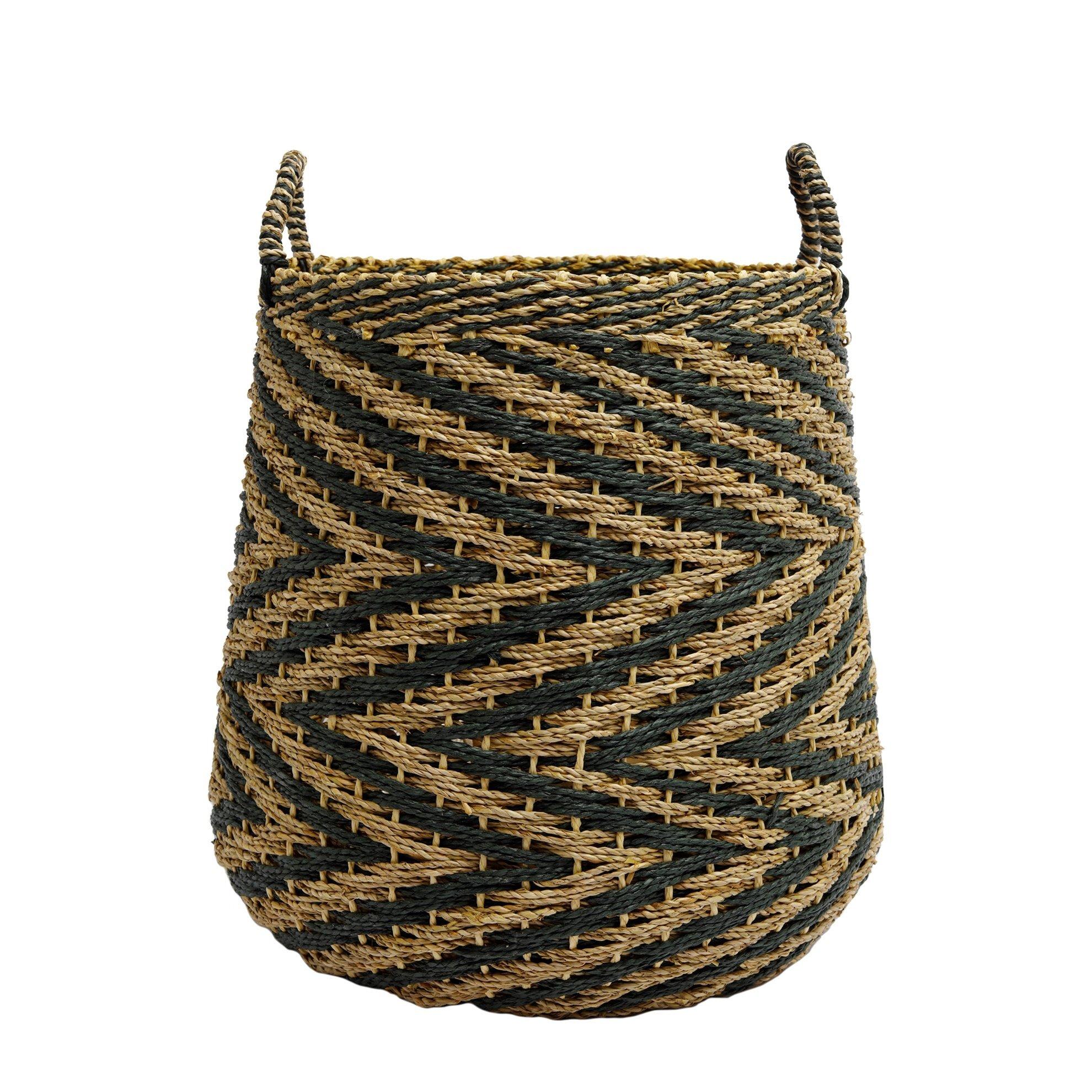 Straw Basket ( 38 X 32,5 X 47,5 Cm )