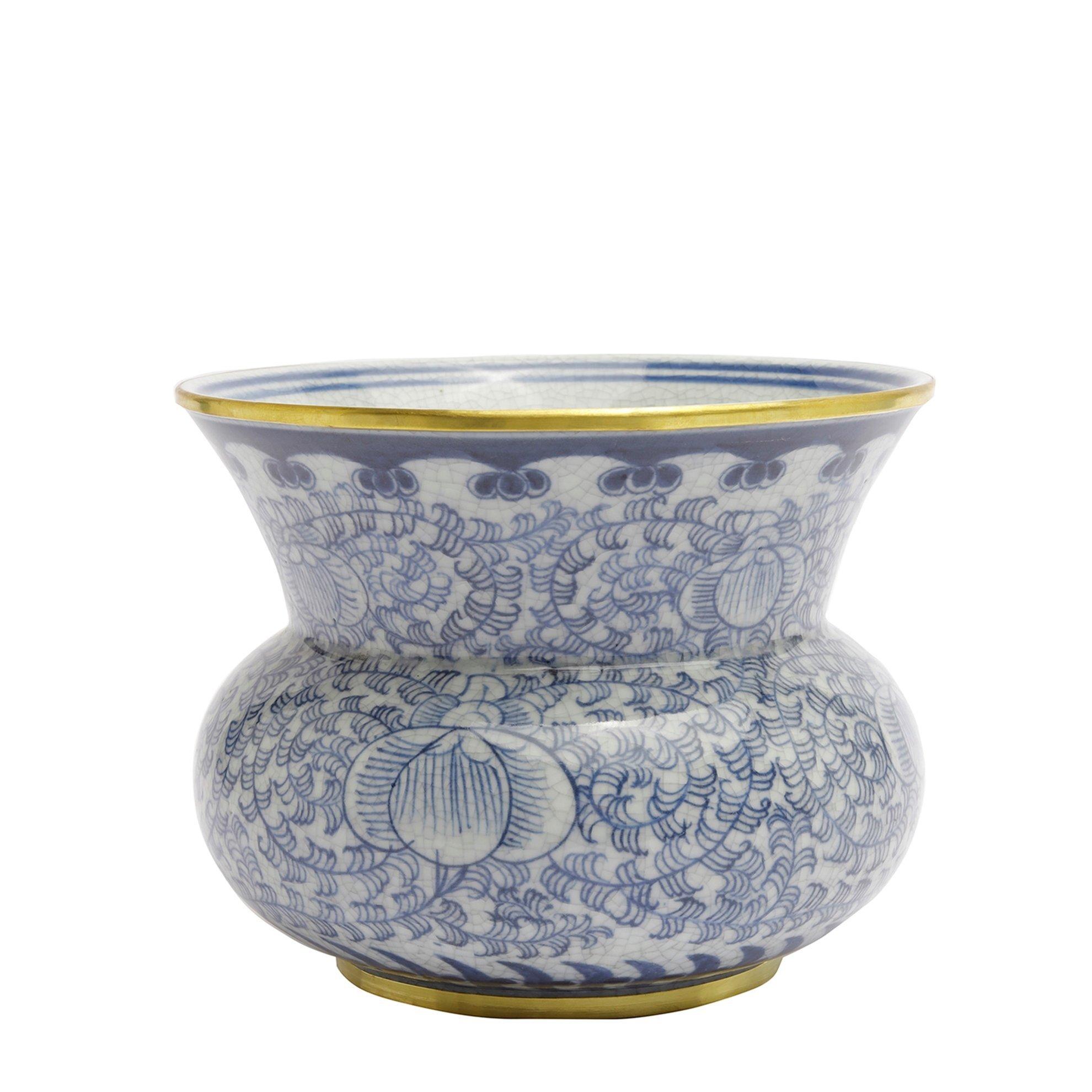 Hand Made, Ceramic Flower Pot ( 17,5 X 14,5 Cm )