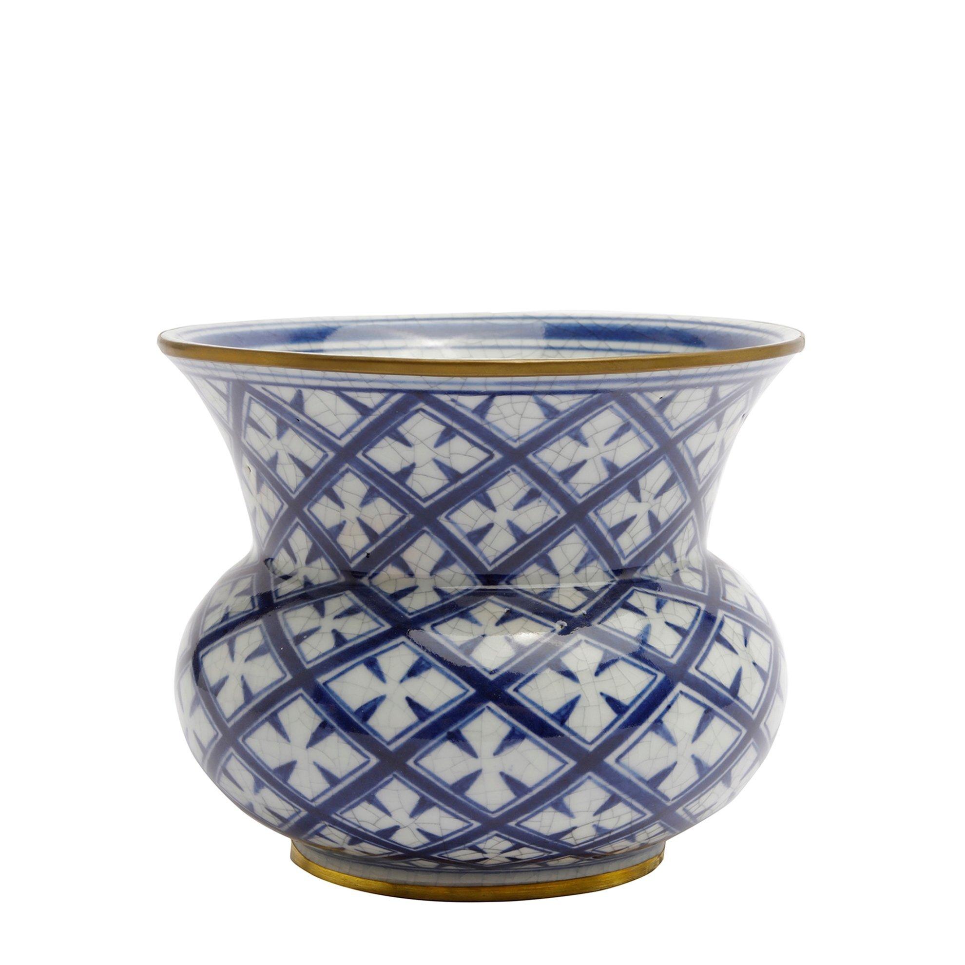 Hand Made, Ceramic Flower Pot ( 16 X 13,5 Cm )