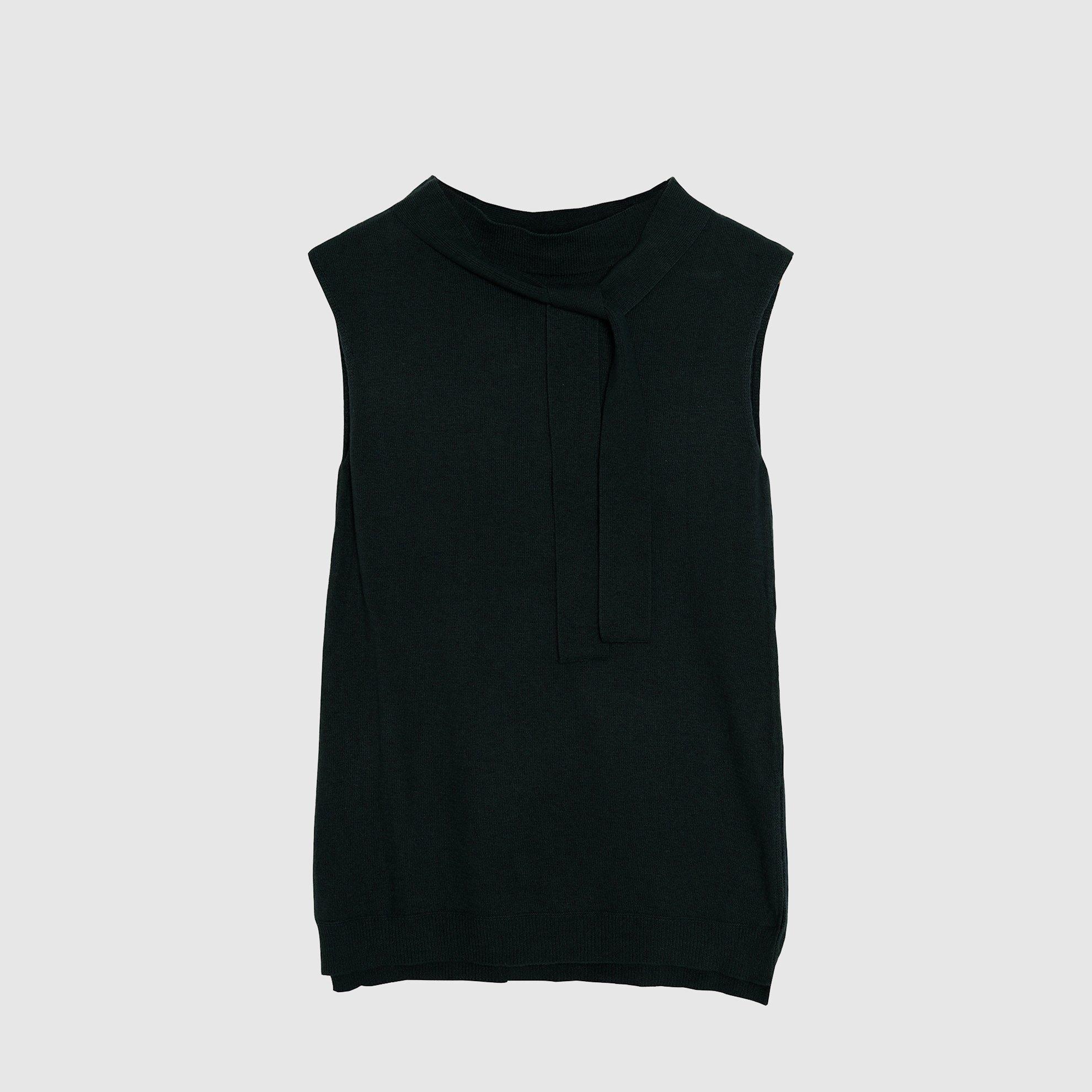 Foulard Detailed Sleeveless Tricot