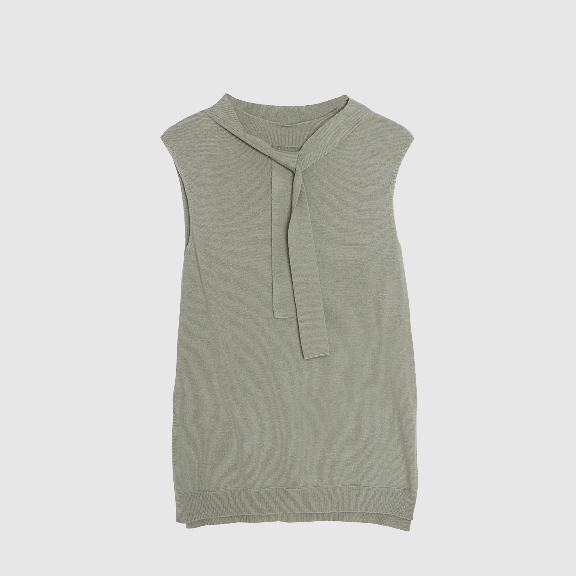 Foulard Detailed Sleeveless Tricot