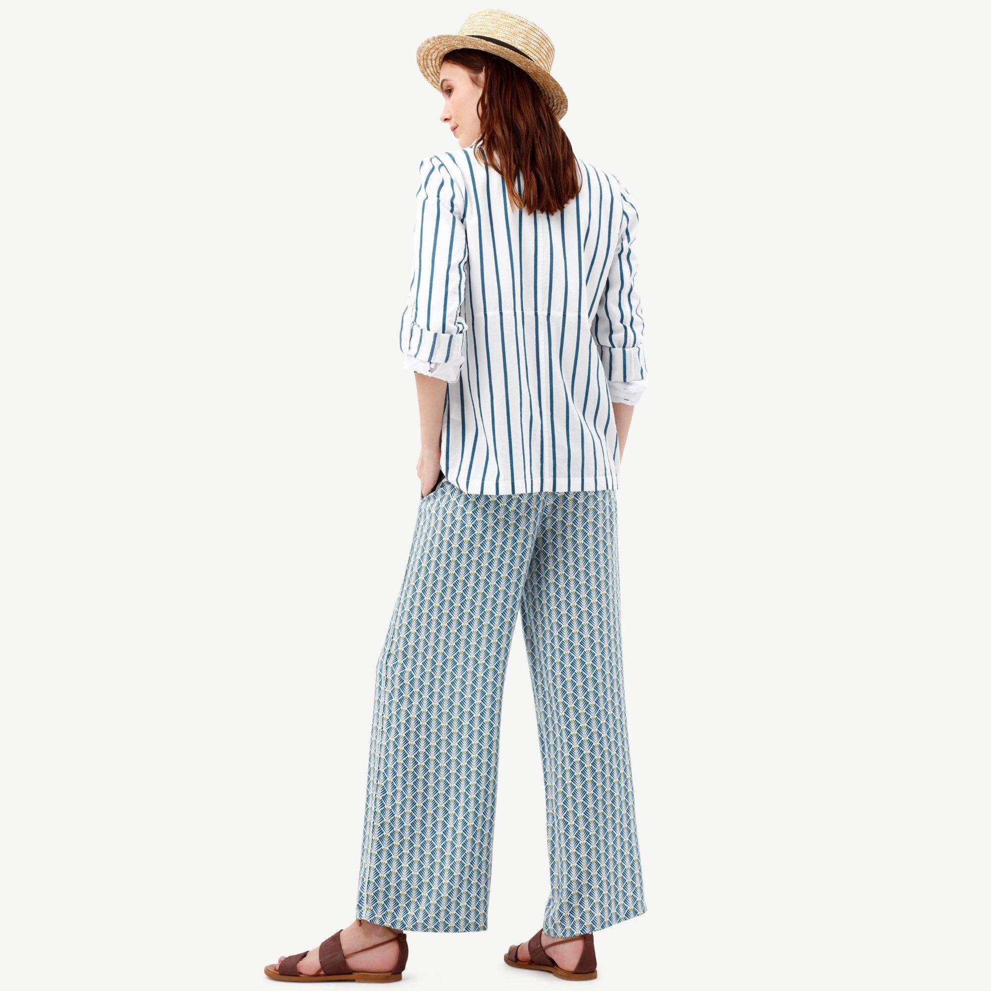 Bol Paça Biye Detaylı Pantolon
