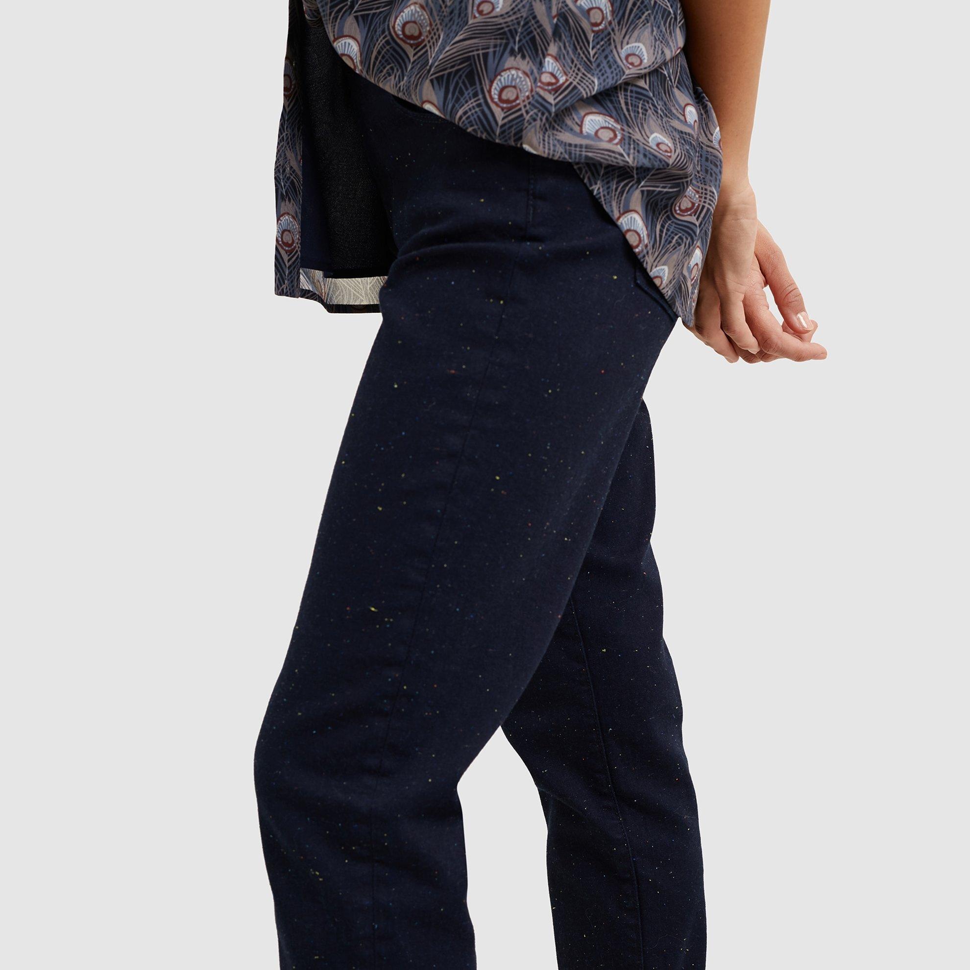 Folded Hem  Boyfriend Denim Pants