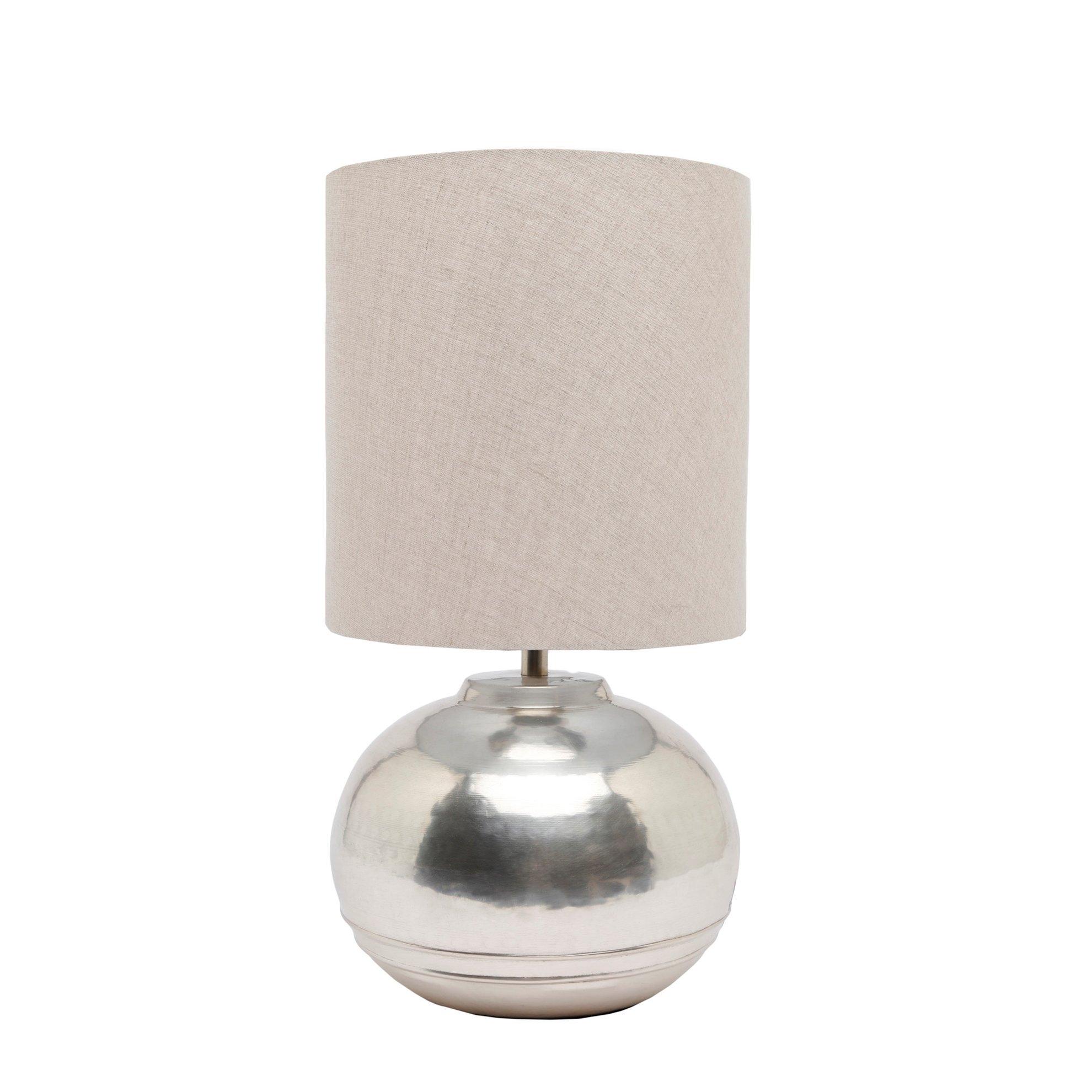 resm Gümüş Kaplama Pirinç Abajur ( 25 X 49 Cm )