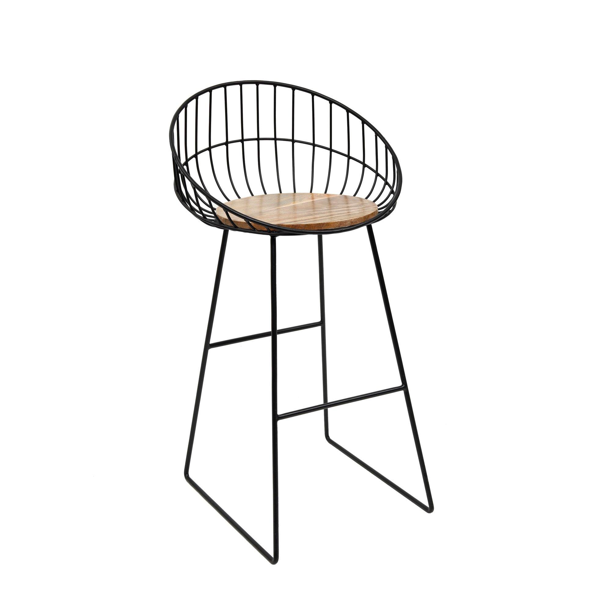 resm Ahşap Yüksek Sandalye ( 49 X 56 X 102 Cm )
