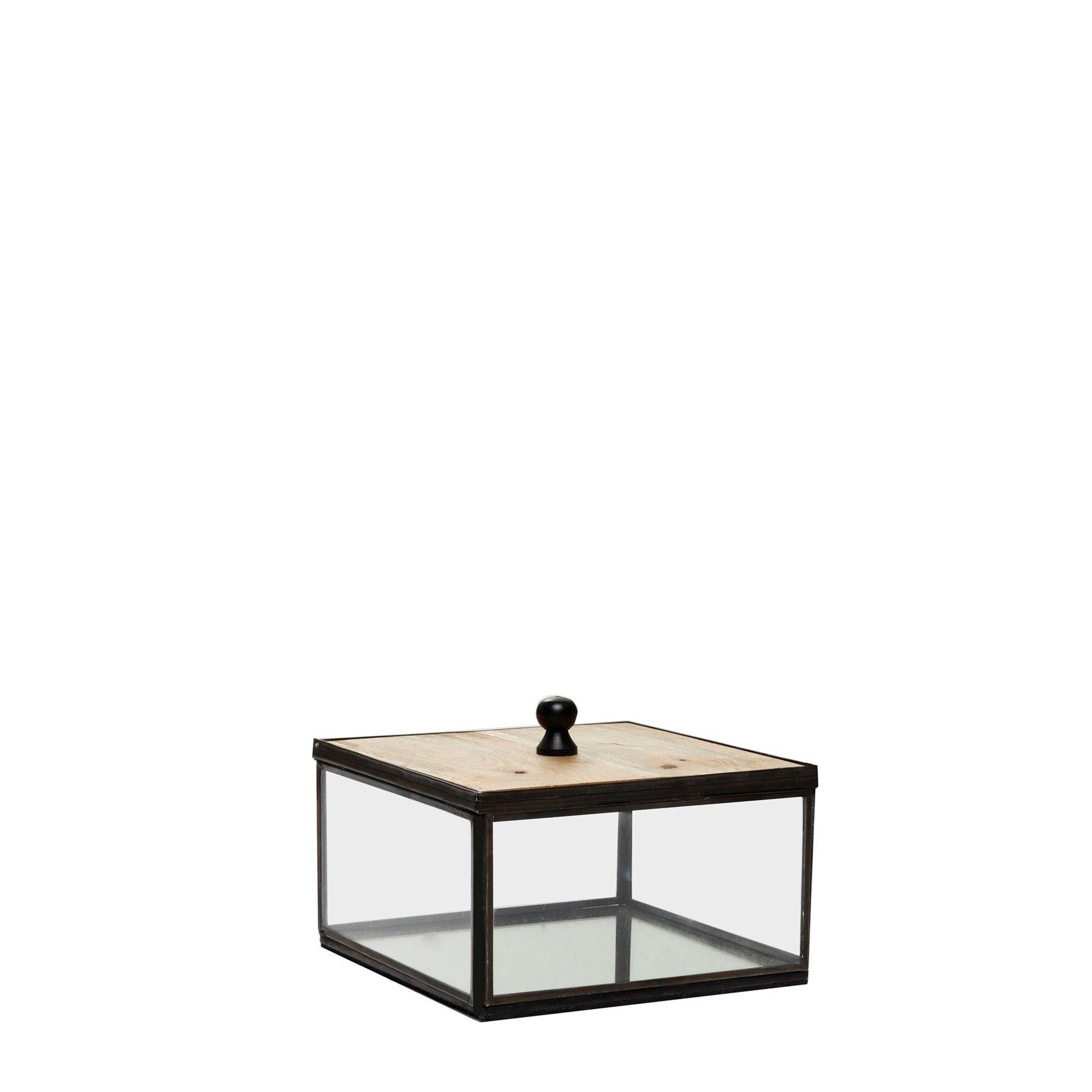 Decorative Glass Box ( 18 X 18 X 9 Cm )