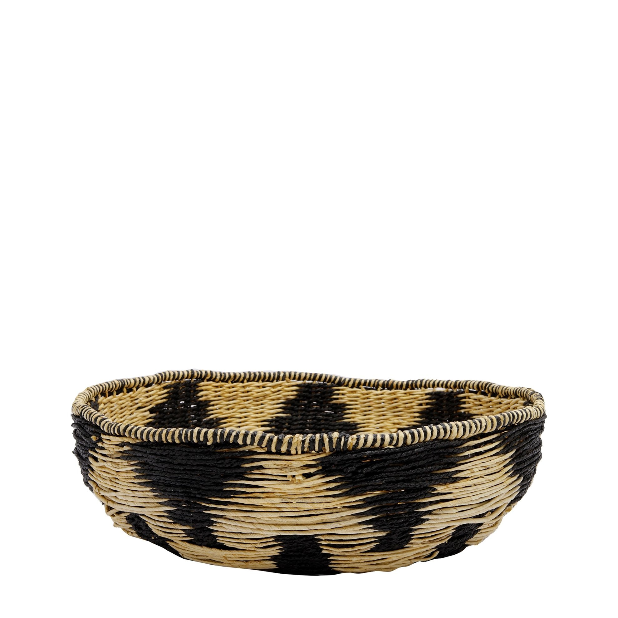 Straw Basket ( 52 X 52 X 17 Cm )