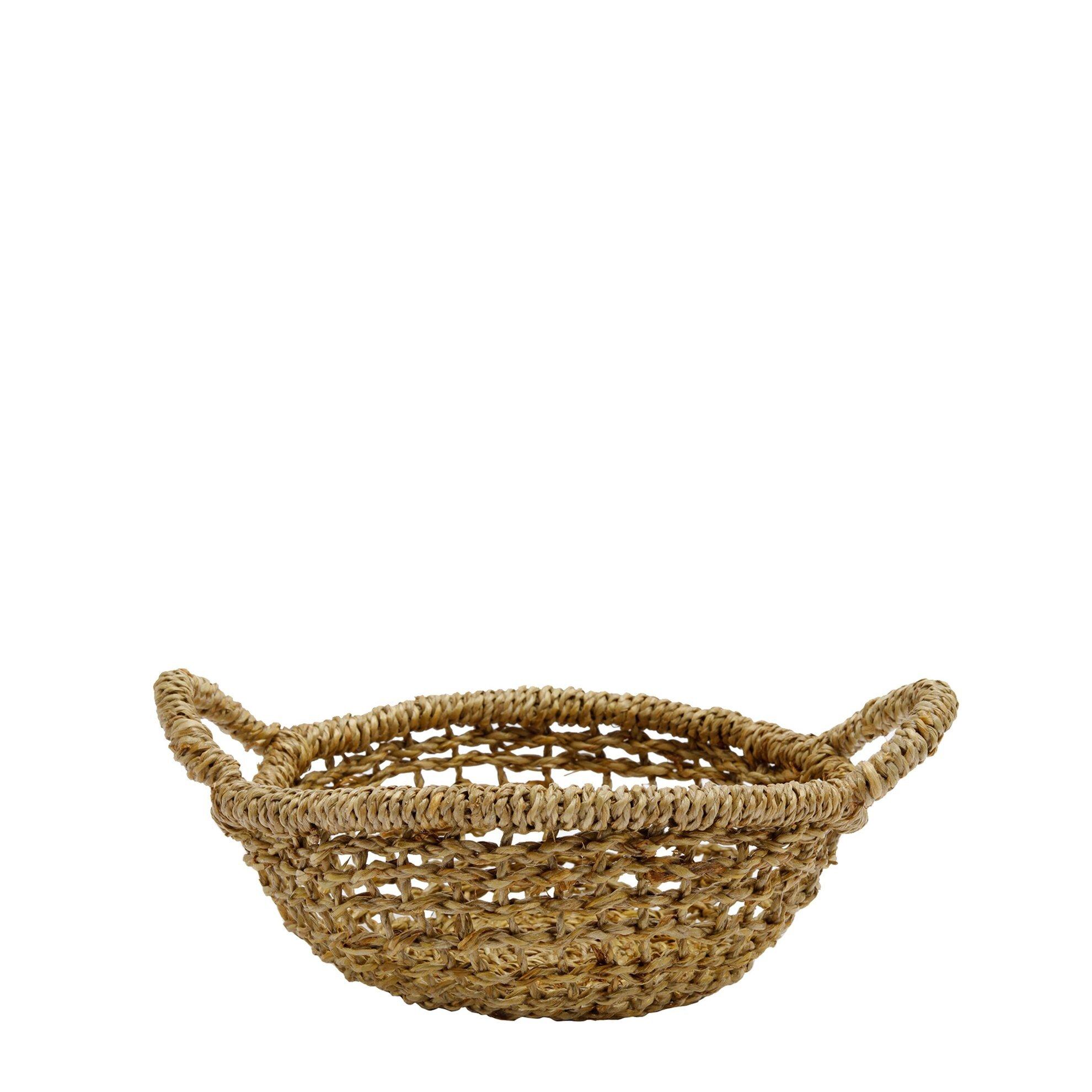 Straw Basket ( 21 X 28 X 11 Cm )