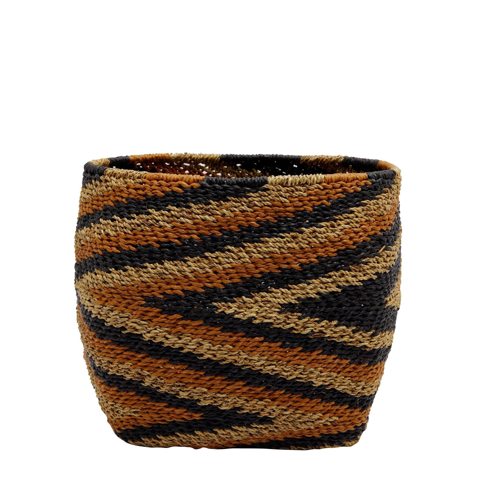 Straw Basket ( 28 X 28 X 26 Cm )