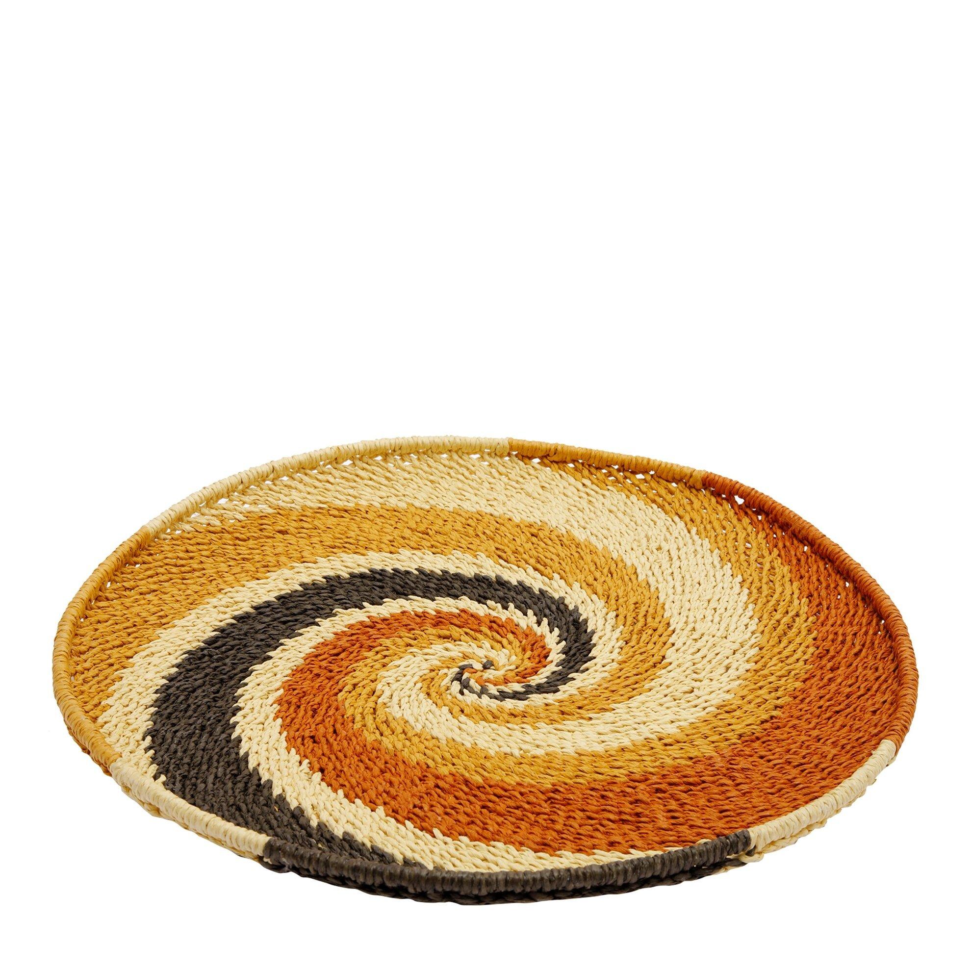 Straw Basket ( 41 X 41 X 2,5 Cm )