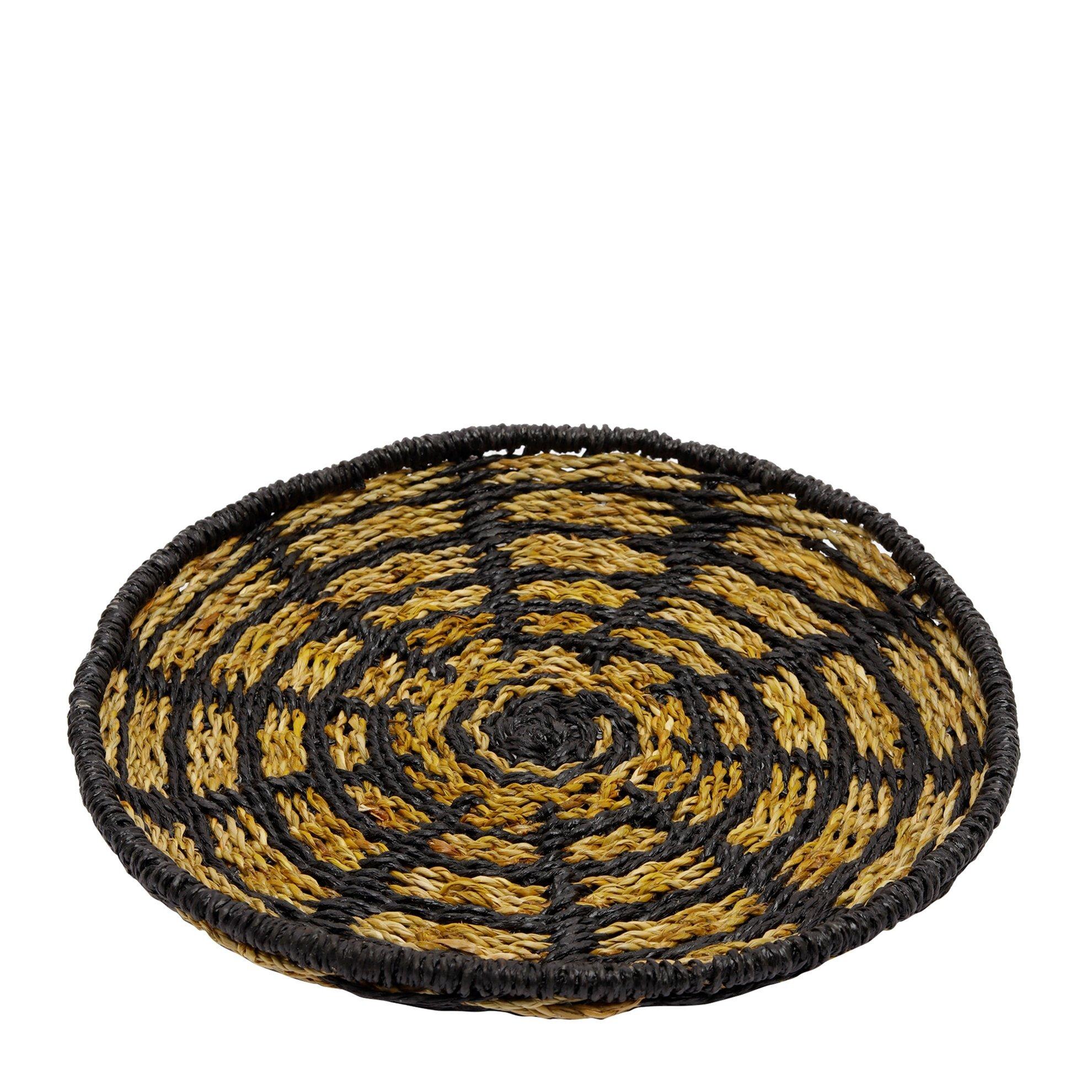 Straw Basket ( 30,5 X 30,5 X 2 Cm )