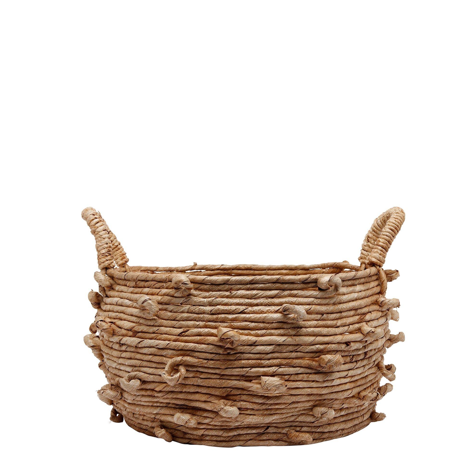 Straw Basket ( 53 X 53 X 30 Cm )