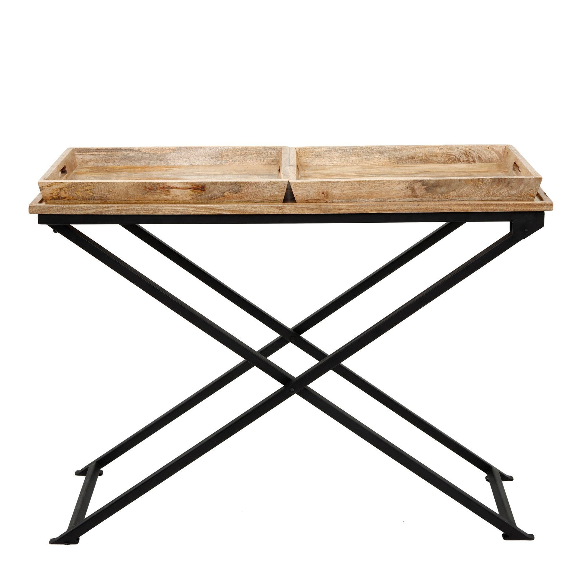 Coffee Table With Two Trays ( 57 X 114 X 44 Cm )