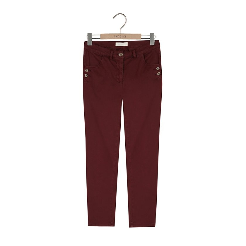 Cep Detaylı Skinny Pantolon