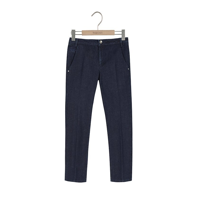 Cropped Pant With Creased Detail