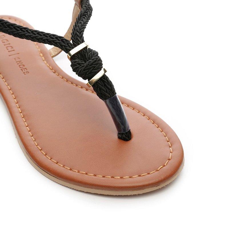 Halat Bantlı Sandalet