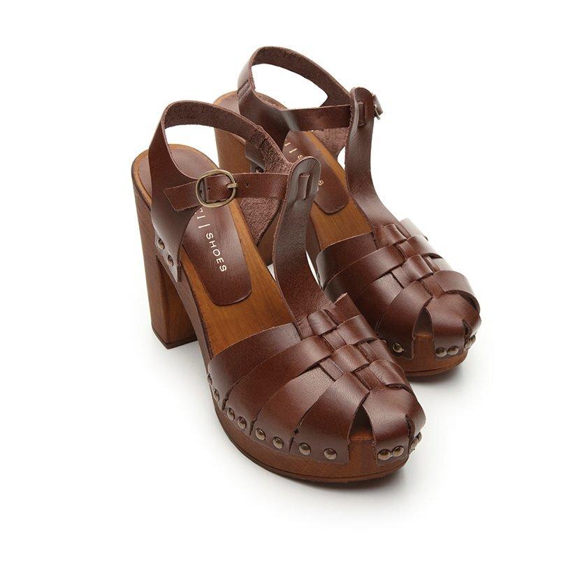 Leather High Heels Shoe
