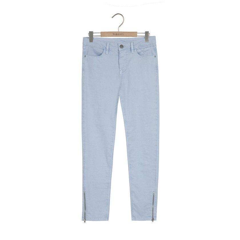Paçası Fermuarlı Dar Kesim Pantolon