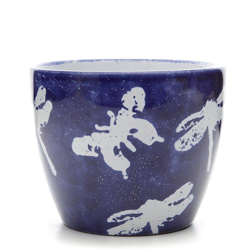 Handmade Ceramic Flower Pot ( 14 X 17 Cm )