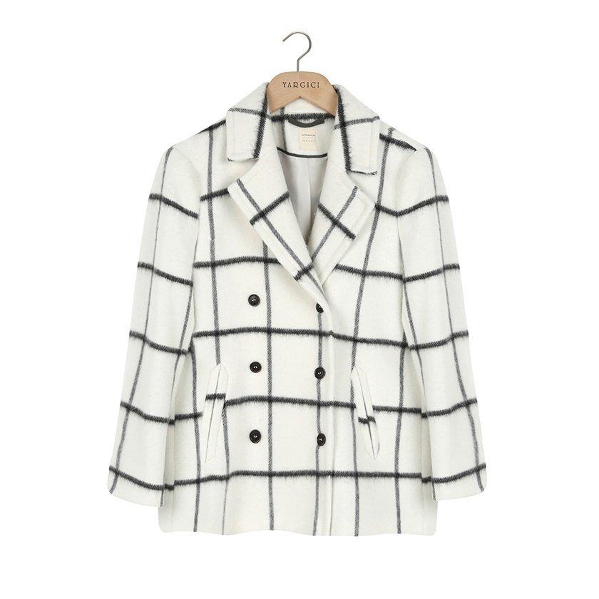 Kruvaze Kapama,geniş Yakalı Palto