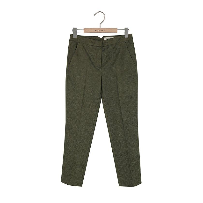 Beli Yırtmaçlı Cropped Pantolon