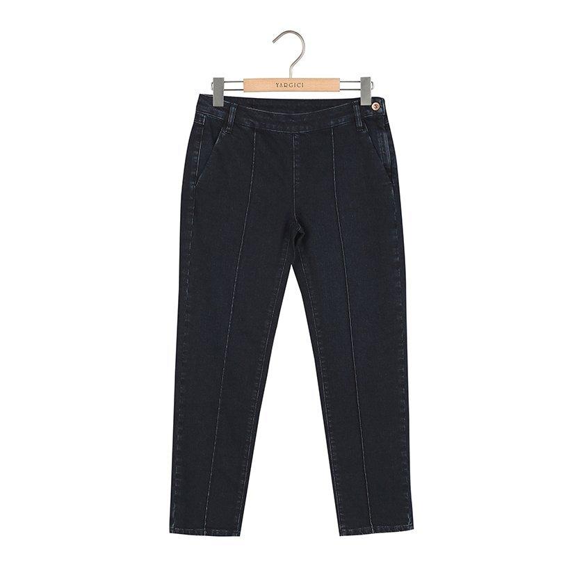 Ütü Çizgili Kemer Detaylı Pantolon