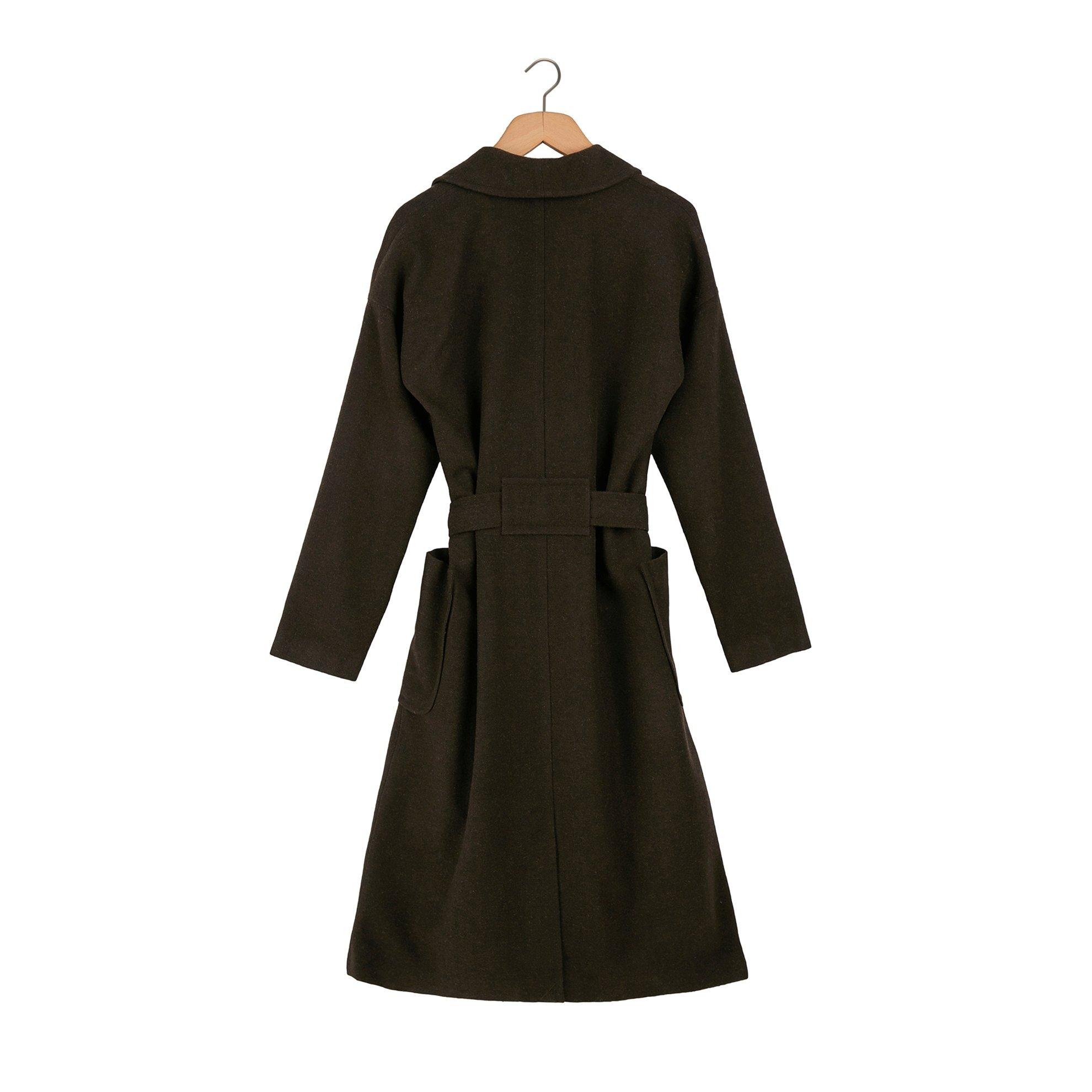 Şal Yakalı Palto