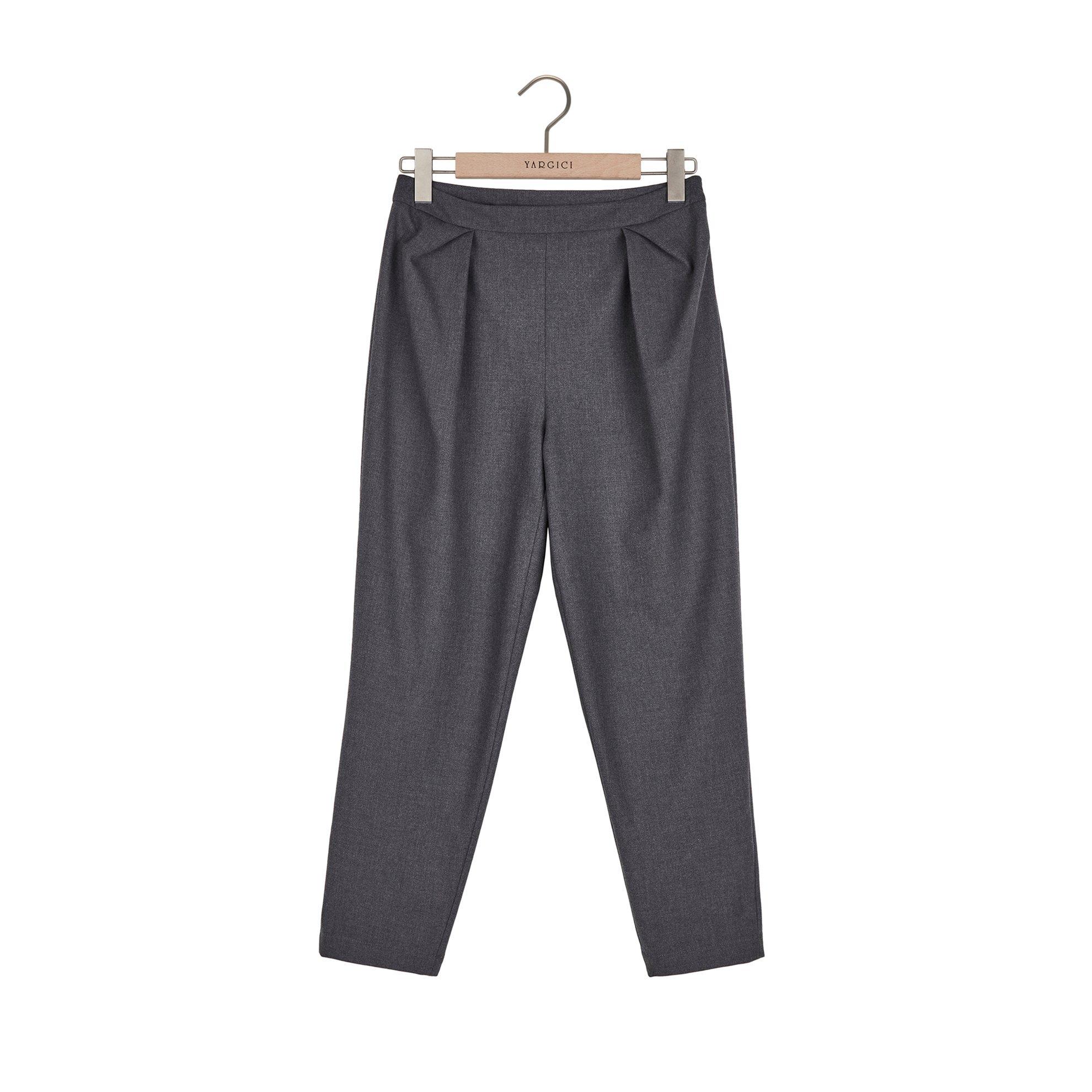 resm Kırma Detaylı Pantolon