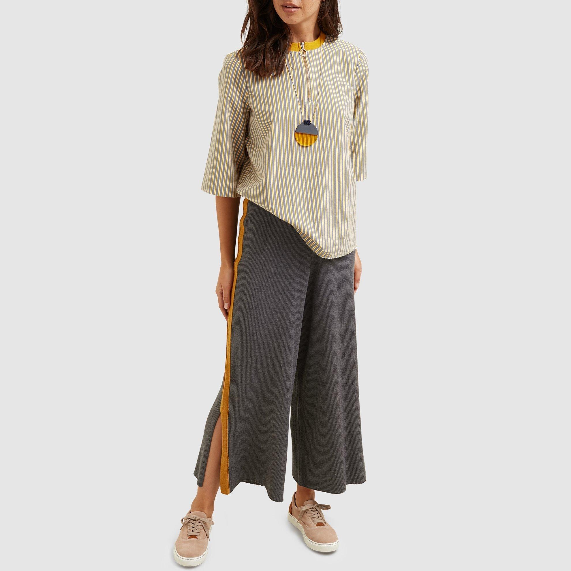 resm Yanı Şerit Detaylı Triko Pantolon