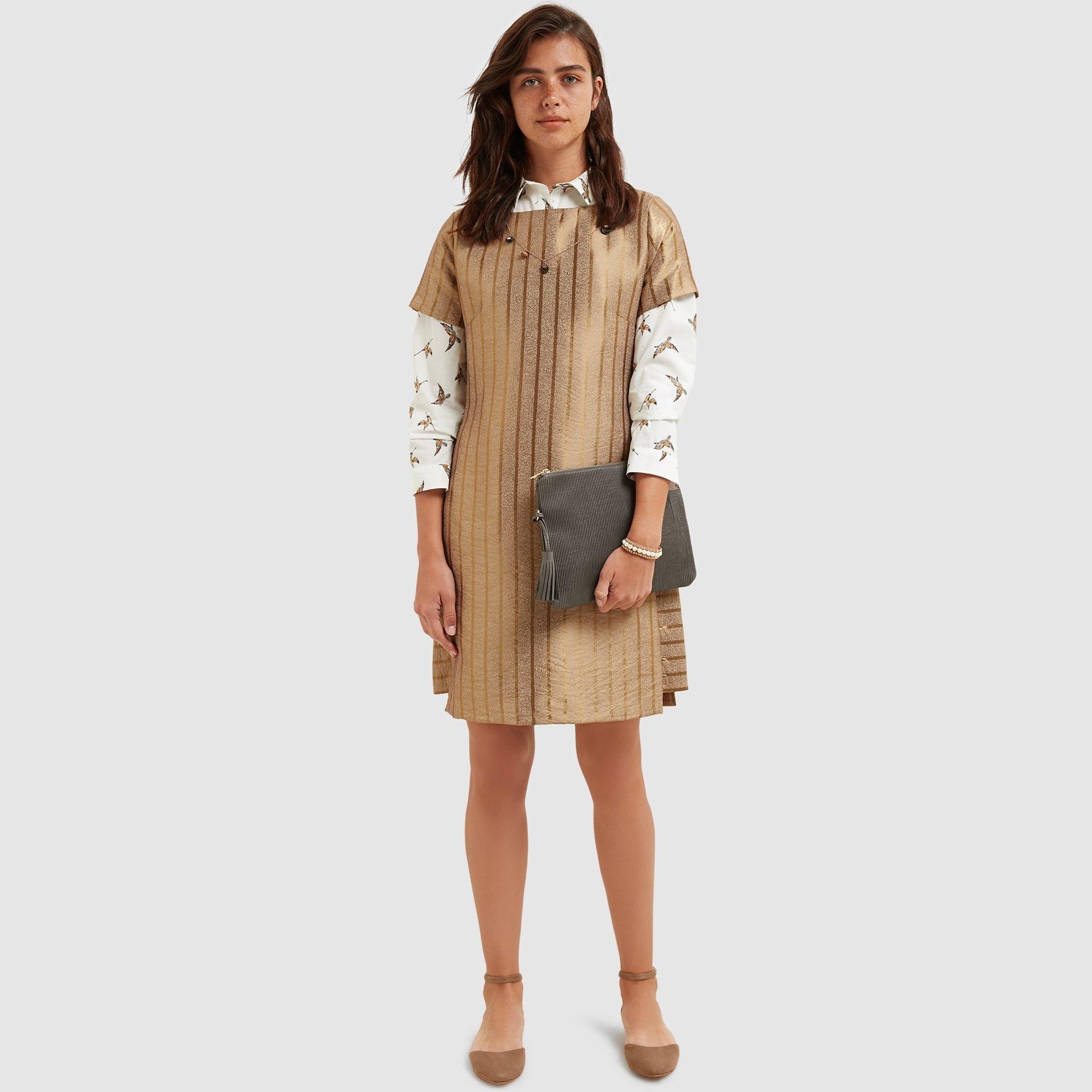 resm Kayık Yaka Elbise