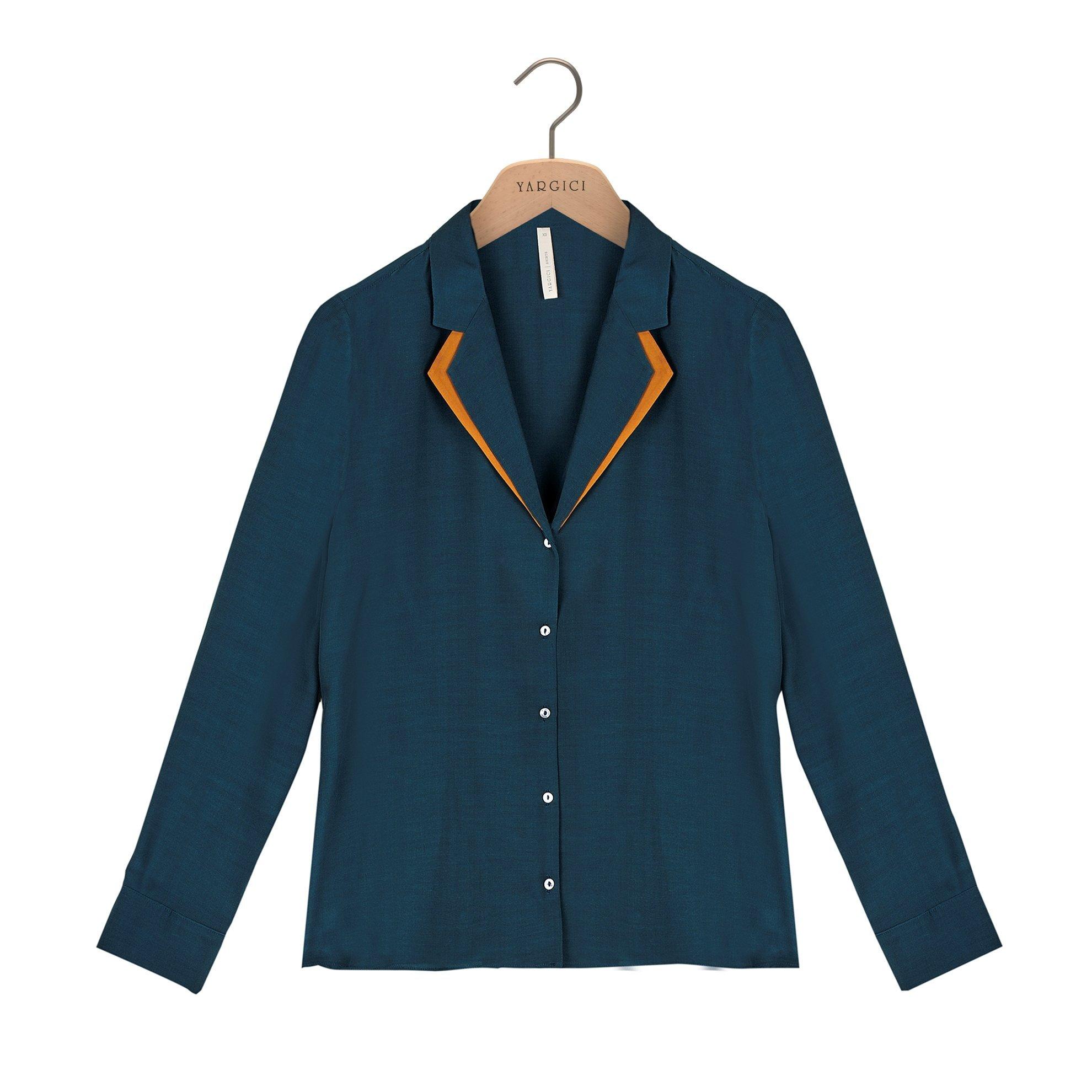 Çift Ceket Yaka Gömlek