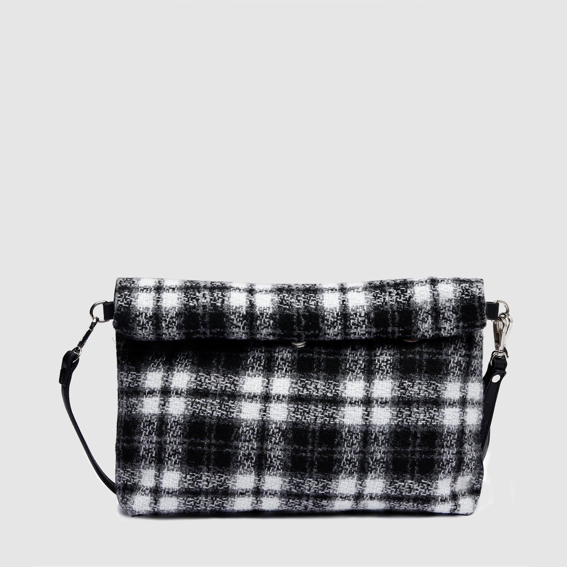 Clutch Tasche mit Karomuster