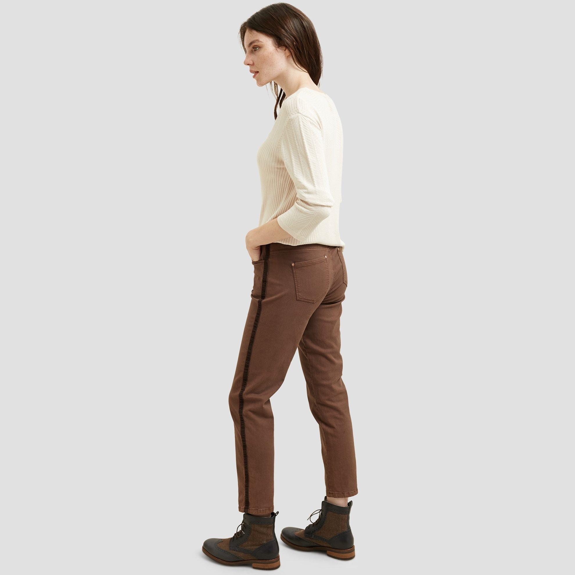 resm Yanları Şerit Detaylı 5 Cep Pantolon