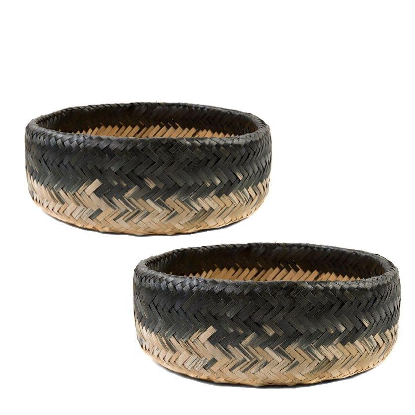 resm El Yapımı Bambu Sepet Seti  ( 40 X 14 Cm - 35 X 13 Cm )