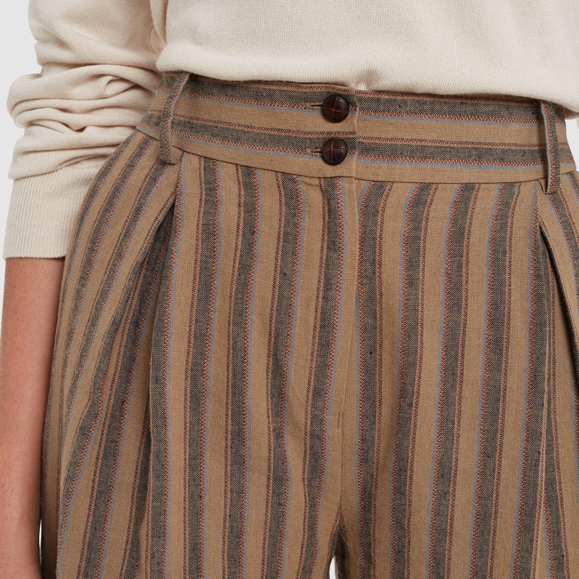 Kırma Detaylı Geniş Paça Pantolon