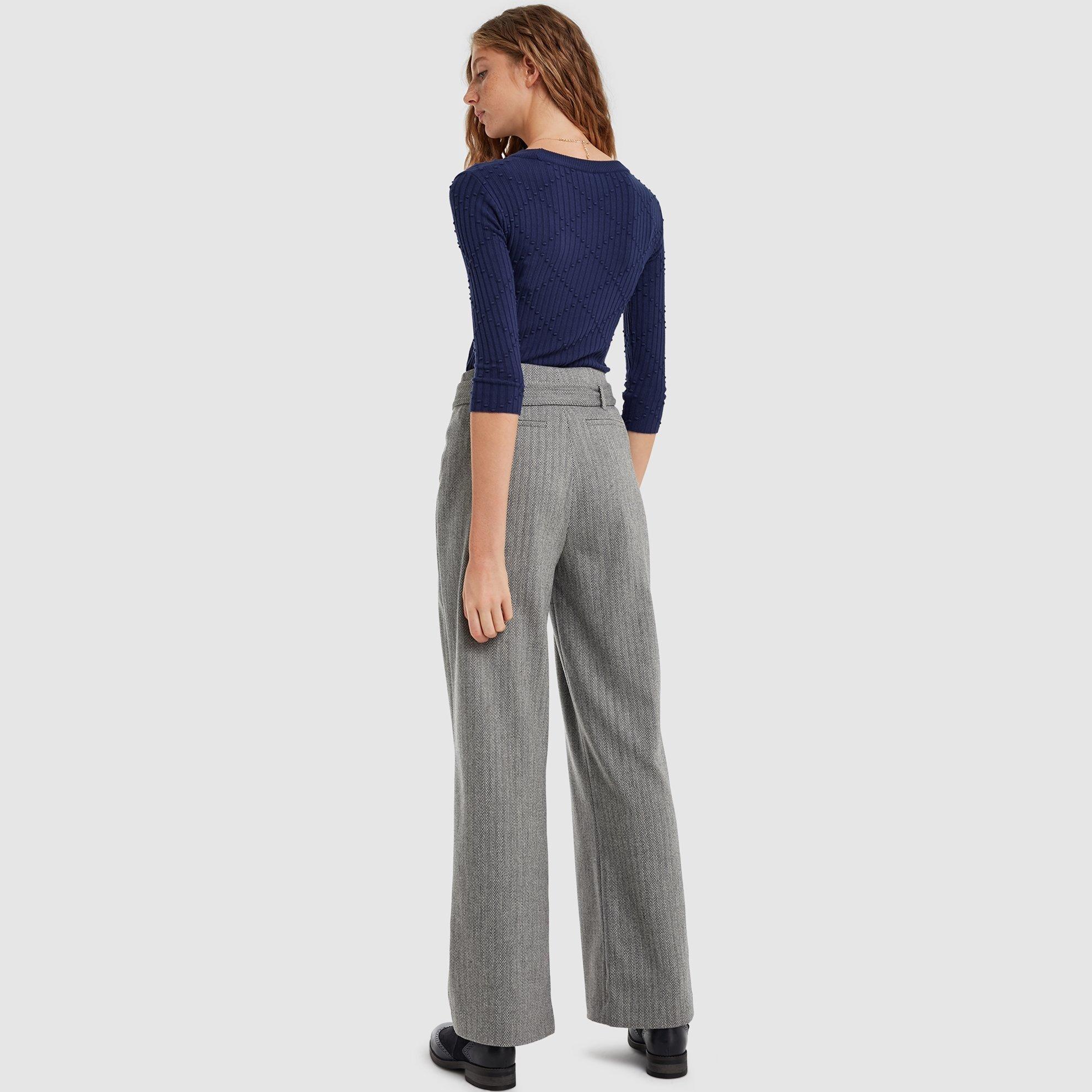 resm Kemer Detaylı Geniş Paça Pantolon