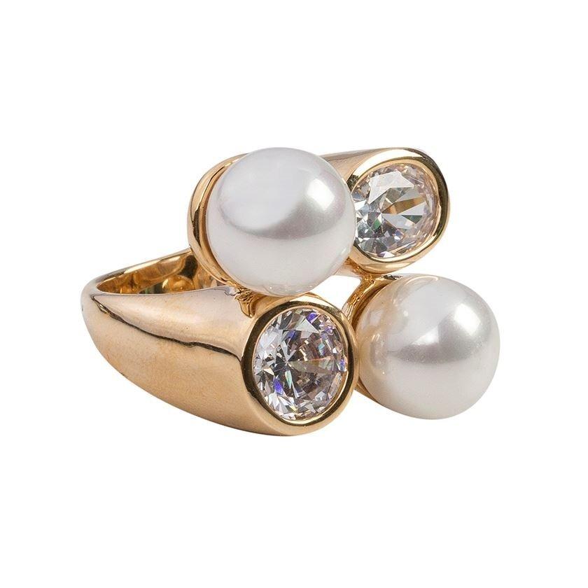 Gold Ring Mit Perlen Yargıcı