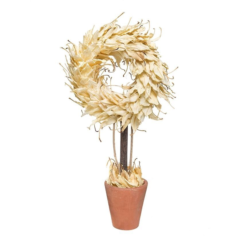Kurutulmuş Yapraktan Dekoratif Ağaç