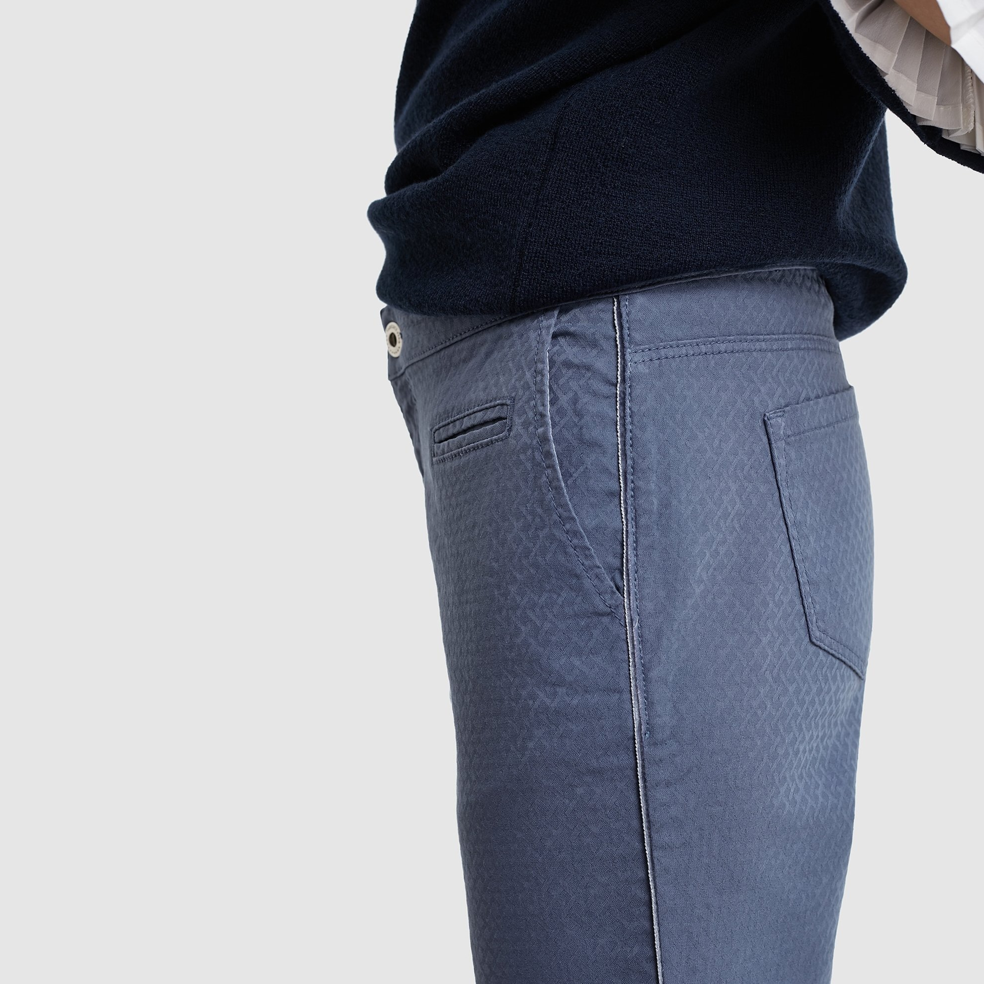 Arkası Kemerli Denım Pantolon