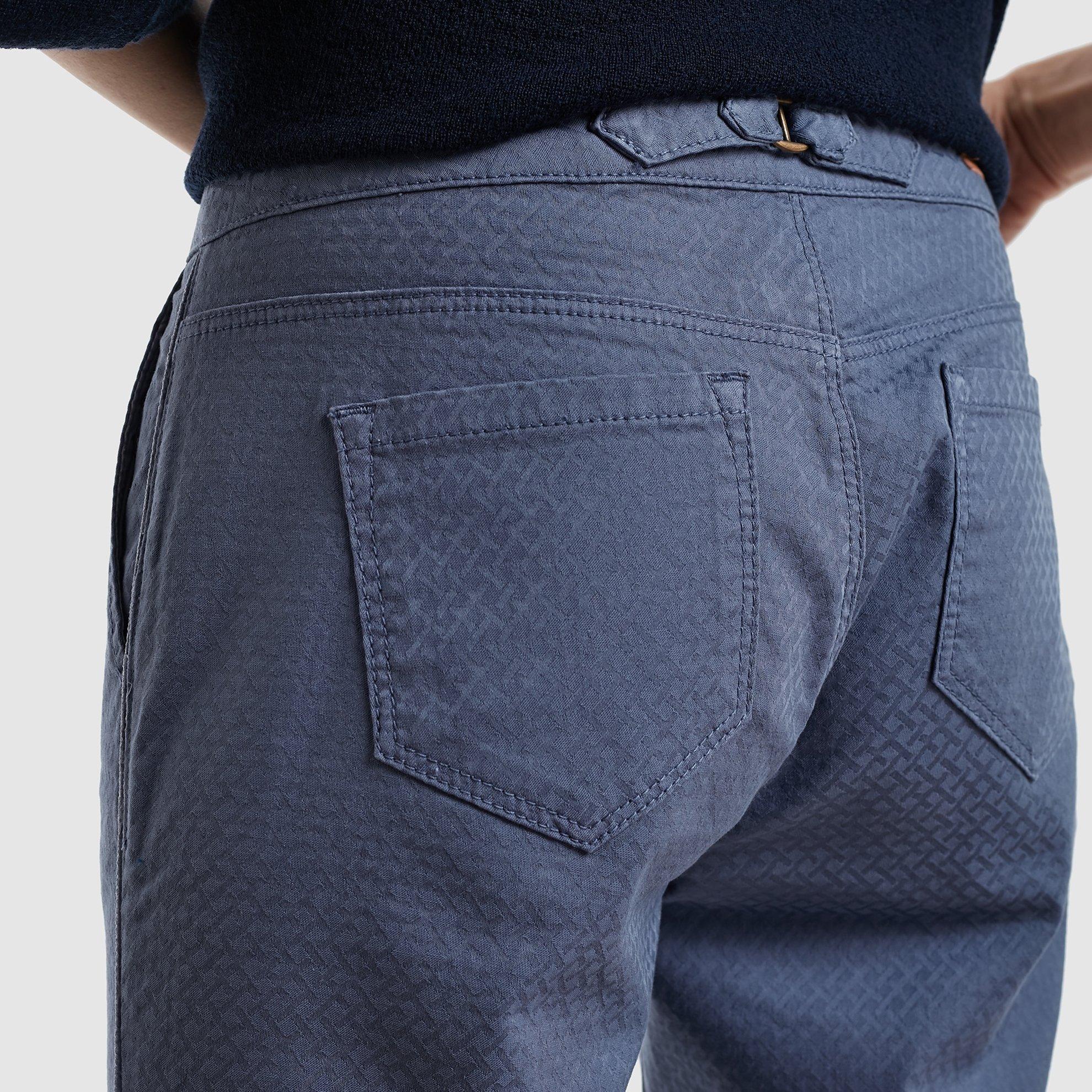 Belted Back Denim Pants