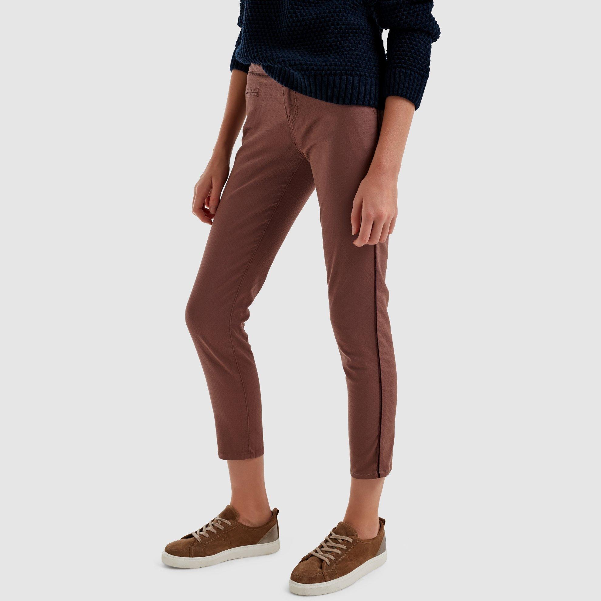 resm Arkası Kemerli Denım Pantolon