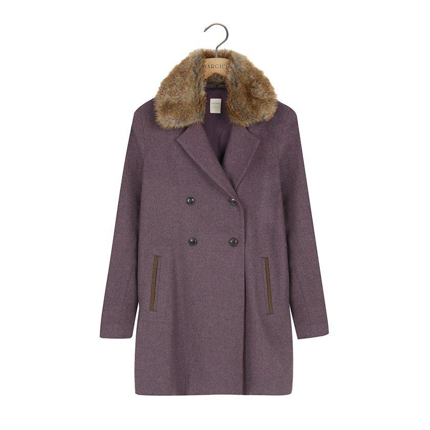 Düşük Omuzlu Pili Detaylı Palto