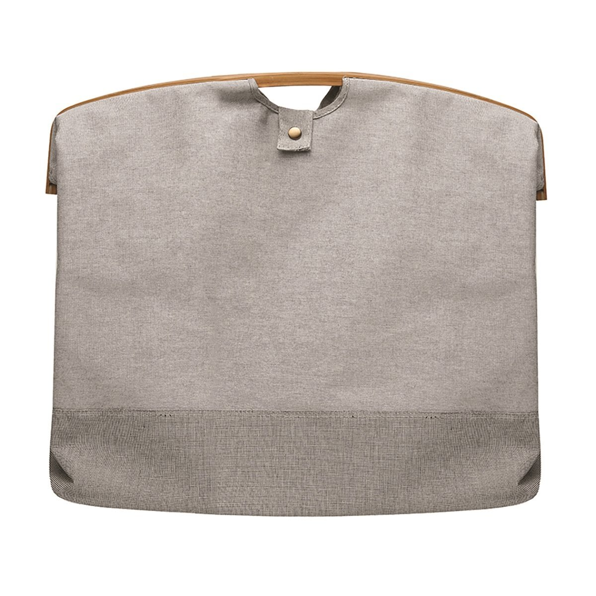 Canvas Bag With Bamboo Holder (  60 X 35 X 55 Cm  )